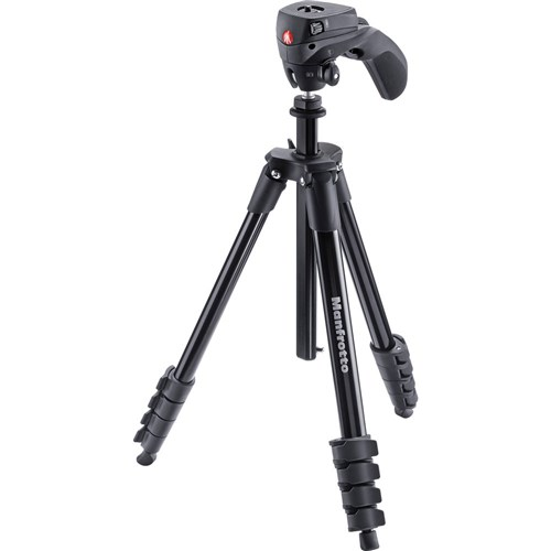 Manfrotto Compact Action Black Tripod 001
